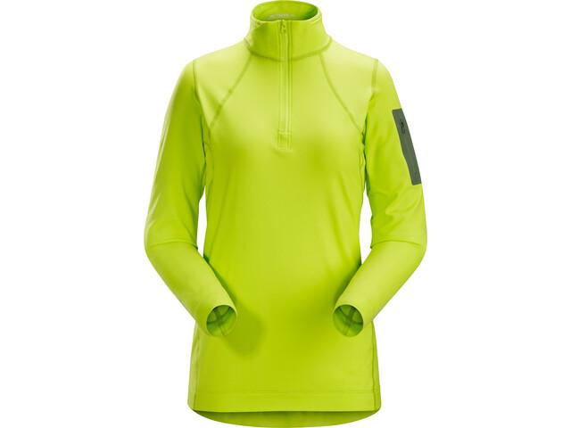 Arc'teryx Rho LT Sweat-shirt avec col zippé Femme, titanite
